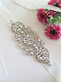 TRLYC Ivory Ribbon Clear Rhinestone Wedding Bridal Dress Applique Trim = DIY!