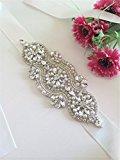TRLYC Ivory Ribbon Clear Rhinestone Wedding Bridal Dress Applique Trim = DIY!