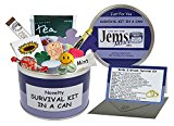 Bride & Groom Survival Kit In A Can. Humorous Novelty Gift - Wedding Day Present & Card All In One. Favor/Favour. Customise Your Can Colour. (Purple/Lilac)
