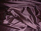 Aubergine/Mauve Shot Silk Taffeta Curtain & Bridal Dress Fabric