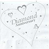 18 x Luxury Diamond 60th Wedding Anniversary Party Napkins