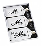 Set/3 Mr&Mrs Luggage Tags. Great wedding favours, birthday gifts,baby shower presents, christmas stocking fillers and more...