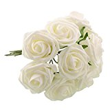 Fairy Season Artificial Bridal Holding Rose Flowers for Wedding White