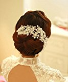 Losuya® Handmade Pearl Bridal Headdress Wedding Accessories Hairpin Hair Hoop Dance Accessories (003)