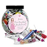 Fabulous Personalised Beautiful Bridesmaid Sweets Jar Wedding Thanks Gift