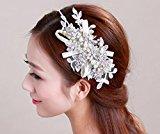 SUYU Bridal headdress, handmade, hair bands, rhinestones flowers wedding crown, wedding hair accessories