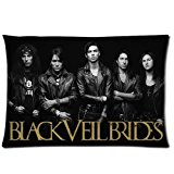 Black Veil Brides Pillowcase Custom Rectangle Pillow Cases20*30 inches (one side)