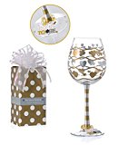 Vintage Love Heart Bride To Be Wedding Party Wine Glass Charm & Bow Gift Box Set