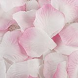 Pink White 100 Silk Flower Rose Petal Wedding Bridal Party Supply Decoration