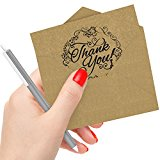 50 Count Krafty Thank You Cards with Envelopes: Best Personalized Note Card for Wedding, Graduation, Bridal and Baby Shower, Birthday and Christmas; Perfect for Natural, Vintage or an Eco-Themed Party