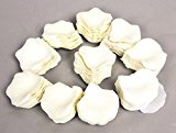 1000 x Ivory Silk Rose Petals ~ Confetti ~ Table Scatter ~ FREE P&P