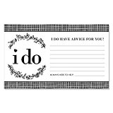I Do - Wedding Wishes Cards and Advice Cards - 18 Count