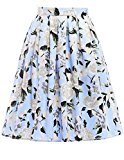 Women's Classy Retro Floral Casual Pleated Midi Skirt Size M CL6294-13