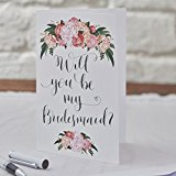 Ginger Ray Will You Be My Bridesmaid Cards X 5 - Boho