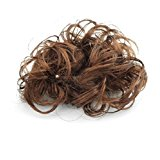 Lady Brown Synthetic Hair Bridal Curl Wig Hairpiece Bun