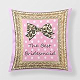 Yourway Square Decorative Pillow Case The Best Bridesmaid Cushion Cover