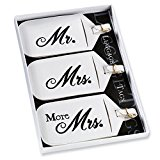 Set of 3 Mr and Mrs Luggage Tags