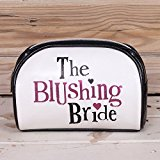 Bright Side The Blushing Bride Big Day Zipped Leather Wedding Day Make Up Bag