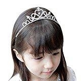 Wedding Party Children Flower Girl Crystal Rhinestones Crown Headband Tiara