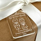 Bride & Groom Gift Tag, Wedding Label, Traditional Wedding Gift, Personalised Wedding Gift Idea