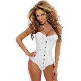 ZAIQUN Sexy Corset Bustier Top Burlesque Basque Laced Lingerie with G-string