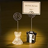 Fashioncraft Bride And Groom Place Card Holders