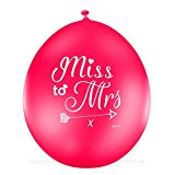 Miss to Mrs ® by Joy Celebrations ® Quality Hen Party Balloons - Sophisticated Classy Hen Do or Wedding Day Bride to Be Celebrations (19481070)