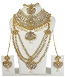 MUCHMORE Bollywood Fashion Indian Gorgeous Bridal Necklace Set Traditional Partywear Jewellery