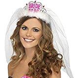 Distinct® Bride To Be Crown Tiara Lace Veil Hen Night Party Wedding Bridal Accessories
