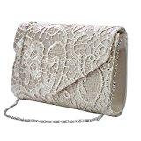 Wocharm(TM) Womens Ladies Lace Clutch Bag handbag & Shoulder Chain Wedding Bridesmaid Party Prom Clutch