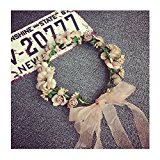 KRY Headband Flower For Girls Brides Bridemaid Headwear Wedding Party Hat Accessery Decoration Travel Hawaii Boho Hair Band Garland Headdress Flowers