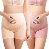 Intimate Portal Women Anti Chaffing Maternity Pregnancy Boyshort Underwear 2-Pk Pink Beige L