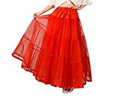 DaisyFormals® Ankle Length Bridal Wedding Long Dress Slips,14 Colors- Red,SM