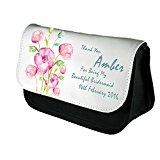 Personalised Bridesmaid Maid of Honour Make Up Bag. Personalised For You By Inspired Creative Design