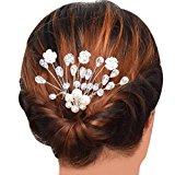 OverDose Women Pearl Flower Barrette Hairpin Hair Clip Headband