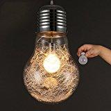 CNMKLM LED Super Big Bulb Pendant Lights Modern Minimalism Hanging Lamp Drop light Lamp-E27BLUB (15cm)