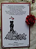 Will You Be My BRIDESMAID Invitations, Dress Cards, Gift Maid of Honor, Matron of Honor Card, Flower Girl, Gift Dress cards, Bridal Gown Invitation Personalized, Custom