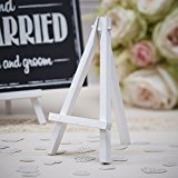 Ginger Ray Pack of 3 Mini Wood Easels Great for Weddings & Parties - Vintage Affair