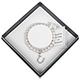 Equilibrium Natural Fresh Water Pearl Bridesmaid Gift Bracelet