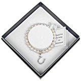Equilibrium Natural Fresh Water Pearl Bridesmaid Gift Bracelet