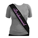 Blue Planet Fancy Dress ® Bulk Buy Offers Black with Pink Hen Party Sash Bride to Be (1x Bridesmaid)