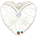 Wedding Balloons - Brides Gown Heart Shaped Foil Balloon Decoration for Reception 18