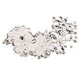Ularma Pearl Crystal Bride Headdress Hairwear Bridal Wedding Dress Accessories (White)