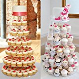 chinkyboo®7 Tier Round Circle Acrylic Cup Cake party Cupcake Stand Display wedding stand