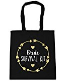 HippoWarehouse Bride survival kit Tote Shopping Gym Beach Bag 42cm x38cm, 10 litres