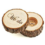 Wedding Ring Box Wooden Engraved We Do Wood Ring Box for Beare Wedding Gifts Bridal Shower Gifts for Couples