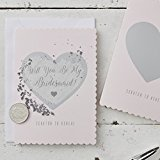 Ginger Ray Scratch to Reveal Will You Be My Bridesmaid Cards x 5 Pack - Scratch Cards