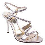 LADIES WOMENS PROM PARTY EVENING BRIDAL BRIDESMAID HIGH HEELS SHOES SANDALS SIZE (UK 5 / EU 38 / US 7, Metallic Gold)