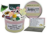 Wife To Be Survival Kit In A Can. Humorous Novelty Gift - Bride To Be Wedding Day Present & Card All In One. Gifts For Her/Gifts For Women. Customise Your Can Colour.(Pink/Cream)