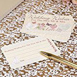 With Love - Pack of 25 Wedding Wishes Cards 673325